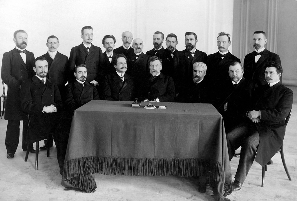 V.I. Kovalevsky and members of the first Polytechnic Institute Council. 1902.